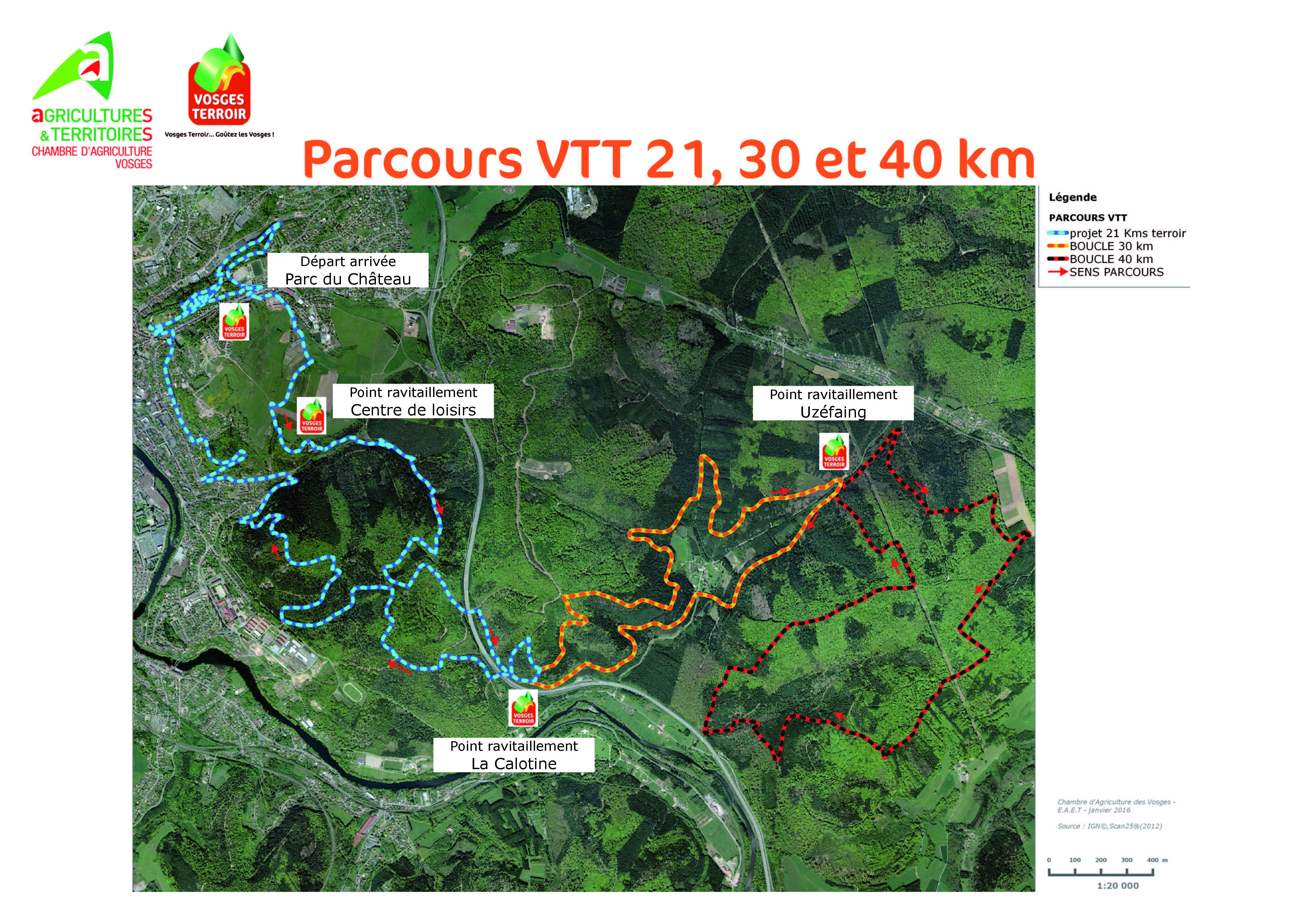 chambre d'agriculture des vosges :: parcours vtt 21, 30 et 40 km