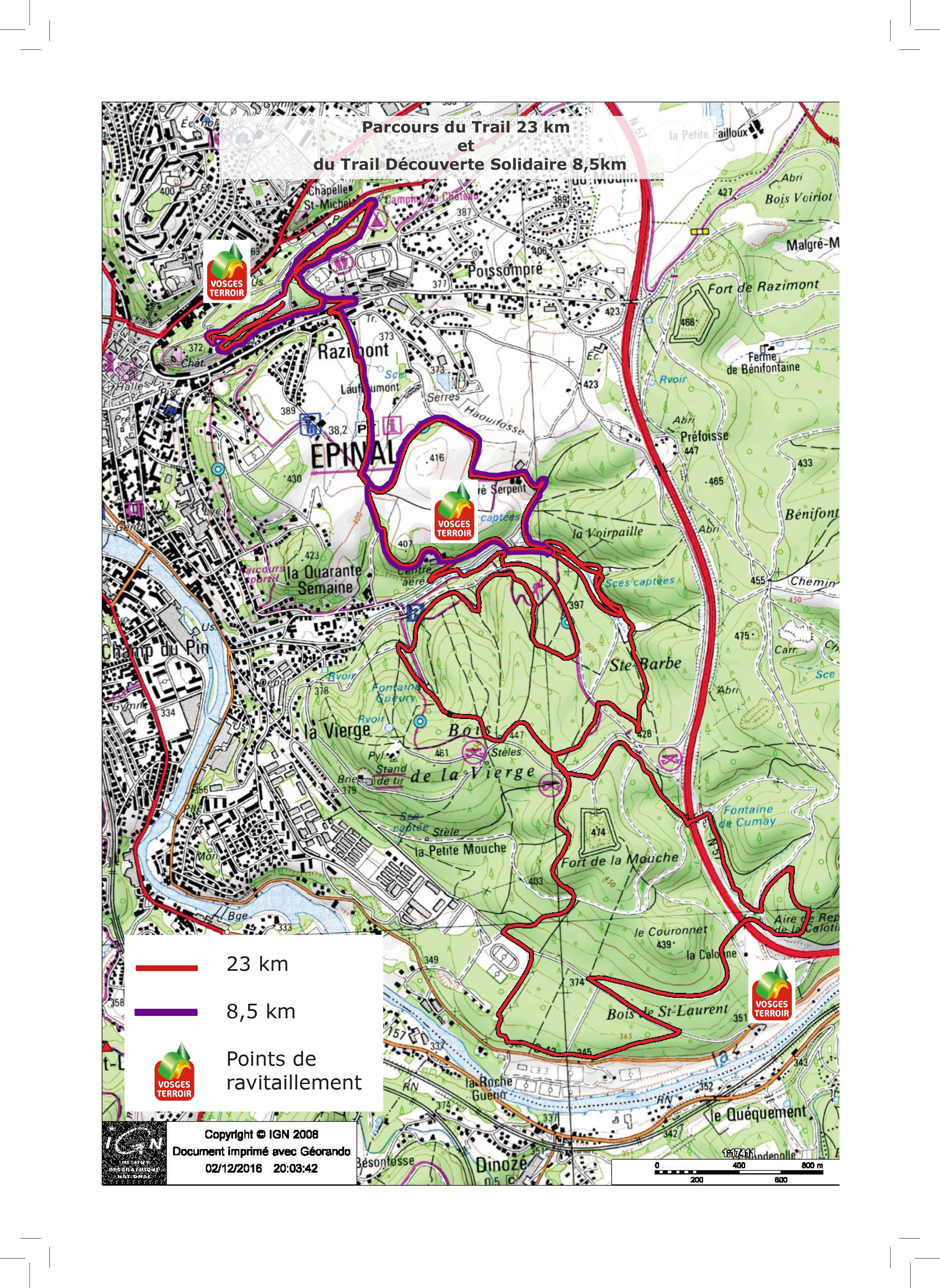 chambre d'agriculture des vosges :: parcours trail 23 km et 8.5 km